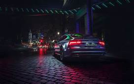 Download Wallpapers 4k Audi A7 Sportback Tuning Night