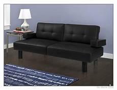 futon black futon sofa bed leather faux modern sleeper