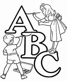 Malvorlagen Schule Abc Abc Alphabet Words Coloring Activity Sheet Letter Abc