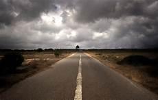 Gambar Horison Awan Berawan Pagi Jalan Raya Aspal