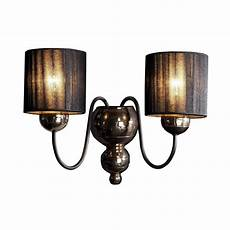 david hunt lighting garbo double wall light in bronze with black string shades fitting type