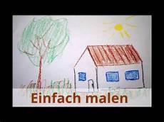 Einfaches Haus Zeichnen Lernen Malen F 252 R Kinder How To
