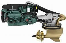 new volvo penta 8 0 litre marine engine on show boatadvice