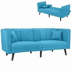 divano azzurro divano letto clic clac 3 posti tessuto imbottito con