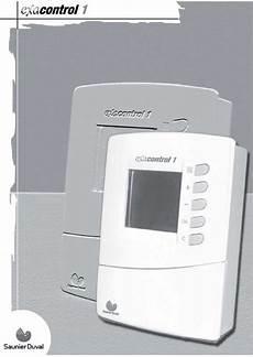 Thermostat Sans Fil Saunier Duval Mode D Emploi Saunier Duval Exacontrol 1 Chaudi 232 Re