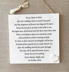 Thank You Gift Parents Wedding