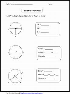 geometry circle worksheets 661 nbs grade 3 4