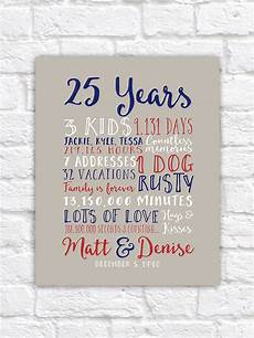 25 Year Wedding Anniversary Gift Ideas For Husband 25th wedding anniversary gift paper canvas twenty fifth