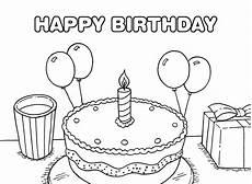 Gratis Malvorlagen Happy Birthday 25 Free Printable Happy Birthday Coloring Pages