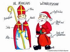 der nikolaus gegen den weihnachtsmann realia