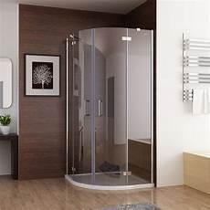 Duschkabine Viertelkreis 80x80 - duschkabine runddusche duschabtrennung dusche echtglas