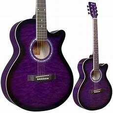 purple guitar lindo standard amethyst purple acoustic guitar gigbag tuner strings plec 5060244177222 ebay