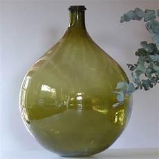 dame jeanne en verre tr 232 s grande dame jeanne en verre vert lignedebrocante brocante en ligne chine pour vous