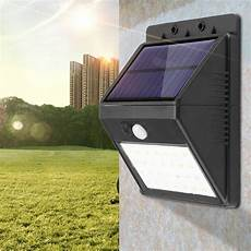 walfront detachable solar 28 led 3 modes motion sensor security wall light garden outdoor l
