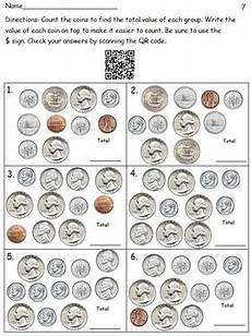 money worksheets with dollar bills and coins 2122 20 qr code money worksheets coins bills bills and coins no prep