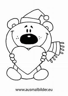 Malvorlagen Teddy Mit Herz Ausmalbilder Weihnachtsb 228 R Mit Herz Weihnachtsb 228 Ren
