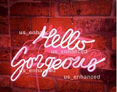 new hello gorgeous pink neon sign acrylic gift light l