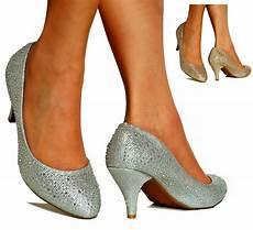 Wedding Pumps Low Heel diamante low heel gold silver bridal heel