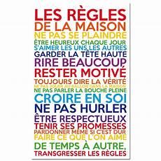 Sticker Les R 232 Gles De La Maison Multicolore Pas Cher
