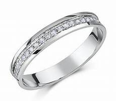 3 5mm platinum flat court diamond half eternity wedding ring platinum rings at elma uk jewellery