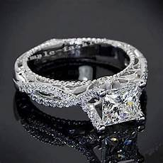 vintage ring handmade princess cut 2ct 5a zircon cz 925 sterling silver engagement wedding