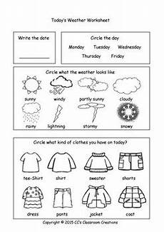 weather worksheets and center activities by cc s classroom