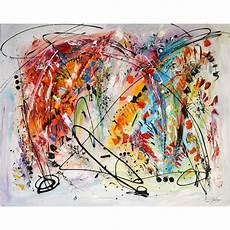 Grand Tableau Contemporain Abstrait Multicolore