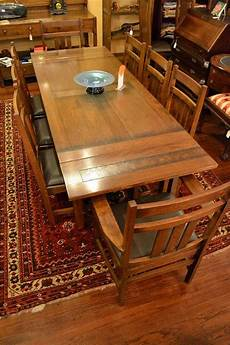 mission oak dining table arts and crafts and by