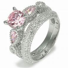 wedding ring jewellery diamonds engagement rings pink cz wedding ring sets gold wedding