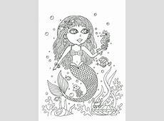 Kleurplaat zeemeermin: 30 mooiste zeemeermin kleurplaten