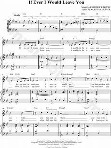 quot if ever i would leave you quot from camelot sheet music in