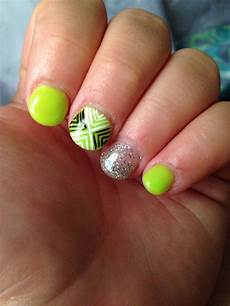 lime green nails nail designs nail ideas glitter