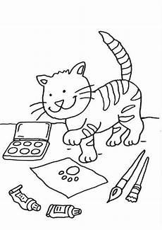 Malvorlage Katze Weihnachten Kostenlose Malvorlage Katzen Katze Auf Dem Schreibtisch