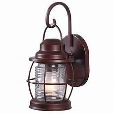 home decorators collection harbor 1 light copper outdoor small wall lantern hdp11987 the home