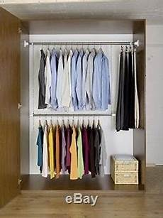 Wall Mount Telescope Rail Rod Hanging Clothes Rack