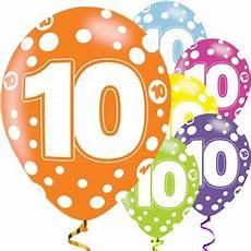 Ballons Assortis Anniversaire 10 Ans 28 Cm