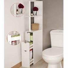 meuble wc 233 tag 232 re bois 3 portes blanc gain de place pour