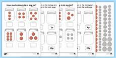 counting money worksheets reception 2314 how much money is in my jar money differentiated worksheet