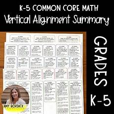 k 5 math vertical alignment summary for common core by boriack