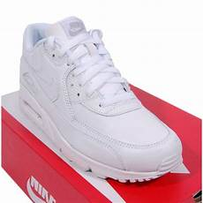 nike air max 90 leather white mens shoes from