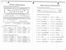 math conversions worksheet briefencounters