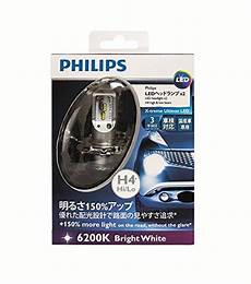 Philips X Treme Ultinon 6200k Led H4 Headlight Bulb