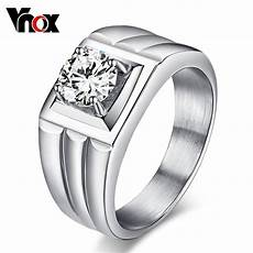 cz diamond men s ring stainless steel jewelry wedding bands engagement rings usa size in rings