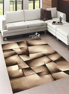 Tapis Salon Design Brillance Ultimate Marron De La