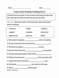 context clues worksheet writing part 1 intermediate context clues worksheets context clues