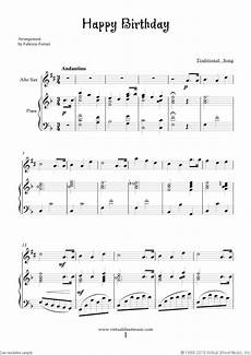 free happy birthday sheet music for alto saxophone and piano