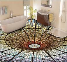 Tapeten Auf Fliesen - custom luxury lighted floor tiles wallpaper colorful 3 d