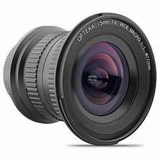 wide angle digital opteka 15mm f 4 wide angle macro lens uv for canon eos