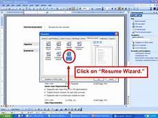 use resume wizard microsoft word 2007