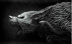 Black Cool Wolf Wallpaper